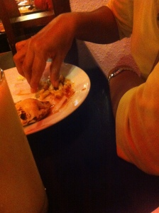 filling of the shawarma